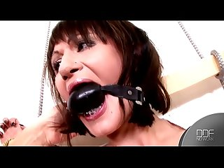Submissive sex slave Anita Henger can't wait for Domina Blake to spank her
