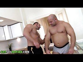 Bear bangs straightys ass