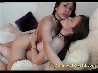 Lesbian couple passionately make out