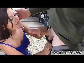 Blow patrol first time border patrol agents found this latina gal