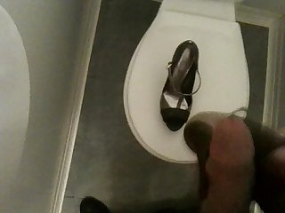 Cum on my coworker heels in toilets 02