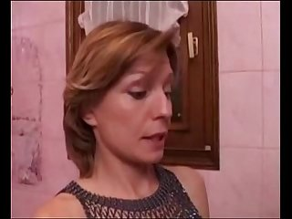French sluts fuck and lick with big boobs in bathroom 100dates