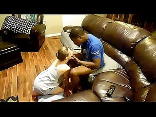 White slave realizing she is owned by her bbc master