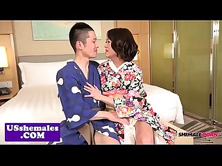 Smalltit ladyboy assfucking doggystyle