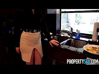 Propertysex careless real estate agent fucks boss to keep her job