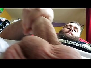 Guy Plays With Smooth Cock And Cums In Slow Motion