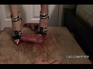 Savage stiletto stomping