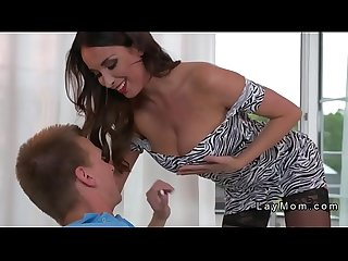 Huge tits french milf deep throats