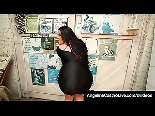 Full figured cuban angelina castro blows a cock pov