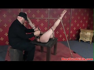 Bound bdsm sub toyed by maledom