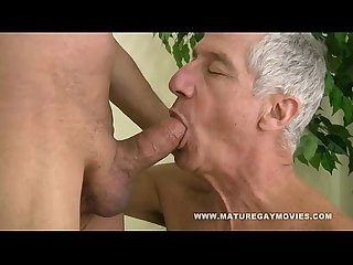 Hot silverdaddy breed mature friend bareback