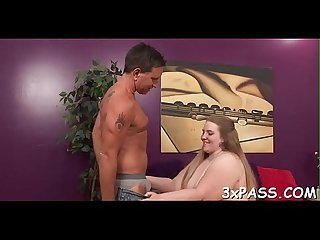 Big nice looking woman creampie