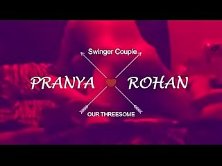 Loud Moaning Desi wife pranya in threesome with hubby friend