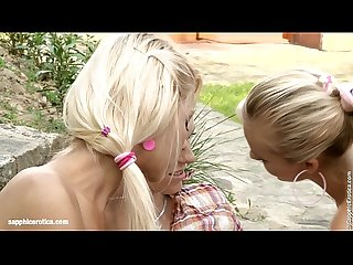 Outdoor Orgy - by Sapphic Erotica lesbian sex with Bellina Anneli Eileen