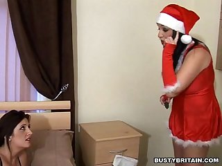 Santa Michelle Punishes Bad Girl Jenny