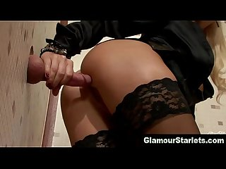 Clothed glam euro hoe fucks dick