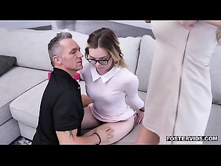 Serious sexual disciplinary actions for Katie Kush who is c. to engage in a threesome with..