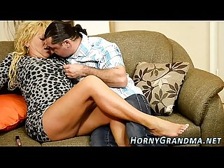 Smalltits granny spermed