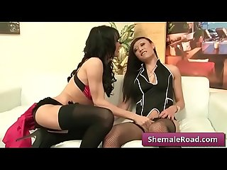 Transsexual wants big cock in mouth and ass - JordanJay and VenusLux