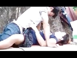 Myanmar spying young couple outdoor sex 31