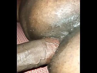 Creampie doggystyle from the back
