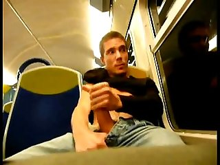 Jerking in train public