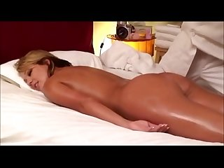 Blonde wife massaged tricked into sex by asian