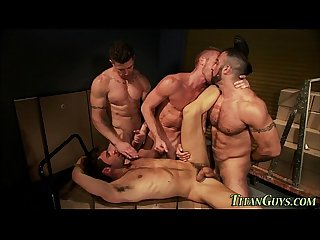 Well hung gay group cum