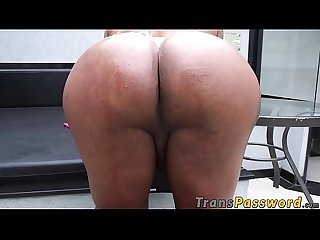 Spectacular tbabe chokes on BBC before anal hammering