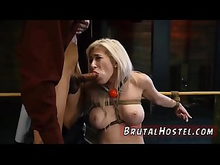 Bondage birthday present Xxx big breasted platinum blonde sweetie