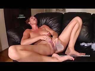 Danish amateur masturbates and squirts