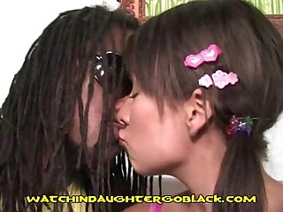 Dad suprises interracial pair