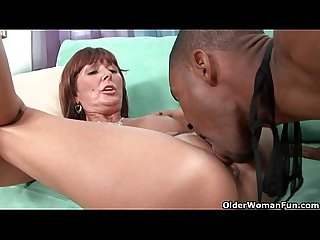 Milf Desi foxx unloads a black cock on her face