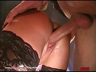 Gorgeous Blonde MILF with Big Natural tits Gets Cum covered - German Goo Girls