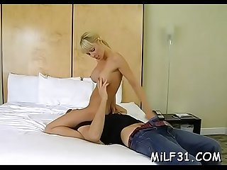 Wet blow job with hot milf