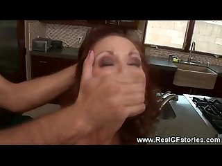 Perfidious wife gets an oral by a stranger