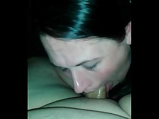 Submissive wife and facial