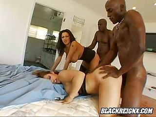 Big titted ebony british shag alexis silver with lex in foursome bang
