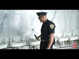 Gay cop catches thief in the rest room