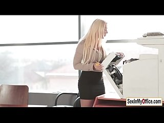 Teen temp kyra hot gets a surprise creampie in the office
