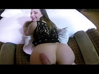 A girl with an incredible hot big ass doggystyle pov and cumshot