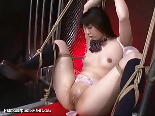 Bound Japanese Girl Fingered And Vibed By Two Asian Partners