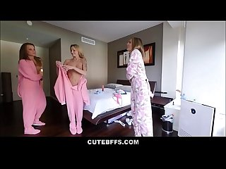 Lucky brother wakes up and fucks his sisters hot best friends liza rowe and shyla ryder during Sleep