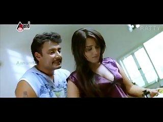 Nikitha hot boob show