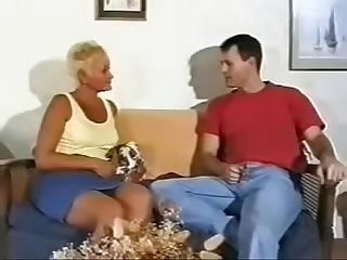 Mature british granny short blonde hair gets fucked by two younger men wtk