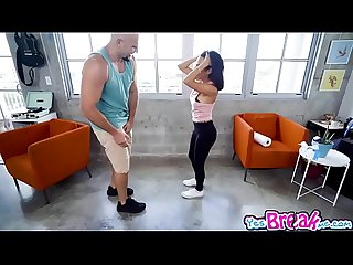 Jmac feeds monica asis his monster cock