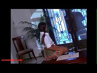 Asiananalgirls com asian teen schoolgirl in pigtails get anal black monster cock