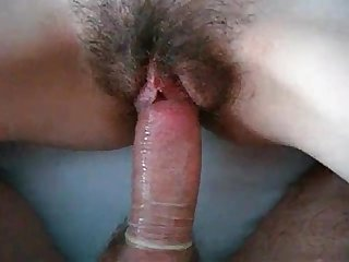 Fucking floppy titted hairy girl who cums