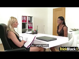 Fake lesbian agent indulging on beautiful black pussy babeting-fakehubcom-3