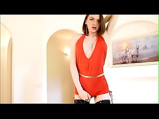 Shemale Katerina 2018 hard dick under the red dress